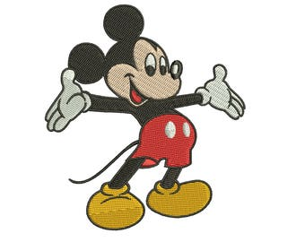 Mickey Mouse Full Filled Embroidery Design Mickey Walt Disney Embroidery Machine Instant Download Q8044