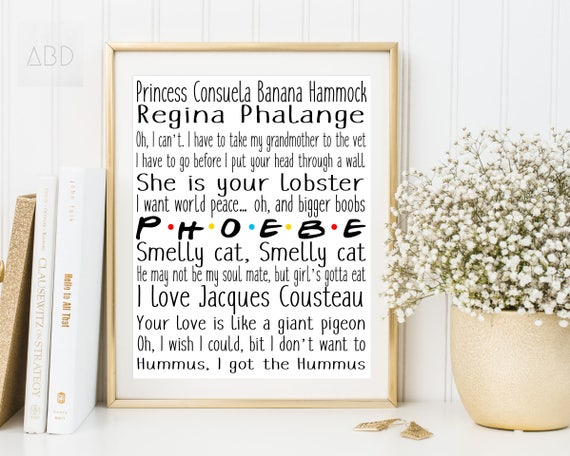phoebe friends phoebe quotes friends phoebe banana hammock princess consuela you are my lobster funny friends quotes phoebe print phoebe friends phoebe quotes friends phoebe banana hammock  rh   etsy