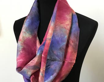 Prophetic - Silk Scarf - Gifts for Women - Dyed Silk - Christian Gifts - Narrow Infinity Silk Scarf called Start of a New Season