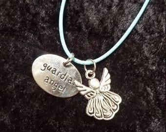 Guardian Angel Pendant Charm Necklace
