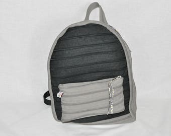 Backpack fully zipper