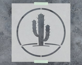 Cactus Stencil - Reusable DIY Craft Stencils of a Cactus