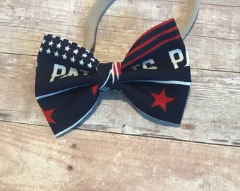Super Bowl bow- New England Patriots Bow- Baby or Toddler Headband - Football bow or bow tie - Bow Ties for Boys- Patriots Baby Gear - Patri