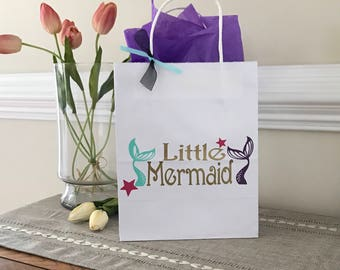 Little Mermaid Birthday, Under the Sea Party, Birthday Gift Bags, Birthday Favors, Baby Shower Favor, Ships 1-3 days