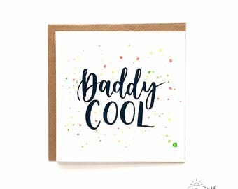 Daddy COOL / Father's Day card / Hand-lettered card