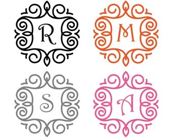 Monogram Initial Sticker