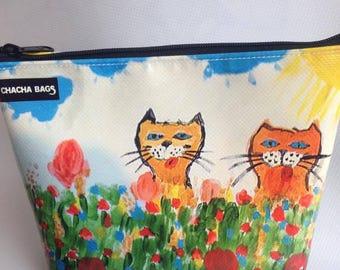POCHETTE Cats in bloom-cats-gattorosso