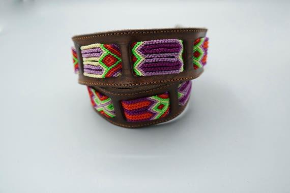 Woven Macrame Leather Belt SZ 30
