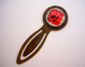 BOOKMARK BRONZE GLASS CABOCHON