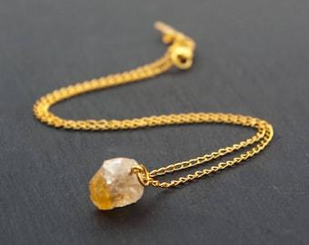 citrine necklace, citrine jewelry, citrine pendant, citrine stones, crystal necklace, citrine, raw citrine necklace, yellow necklace