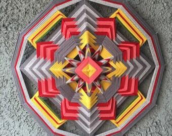ISM - Interior Ojos De Dios Yarn Mandala, 25 inch, 12 sided