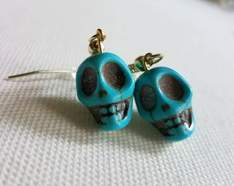 Dancing Skulls earrings - multiple colors available