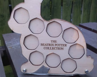Beatrix Potter 50p Coin Collection Peter Rabbit Frame