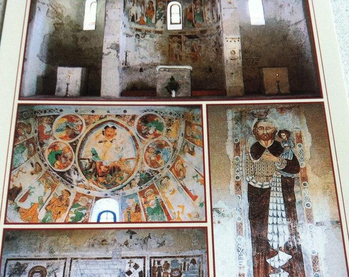 Vintage Religion Church Schweiz Karolingische Dreiapsidenkirche St. Peter in Mistall Postcard Maria Photo