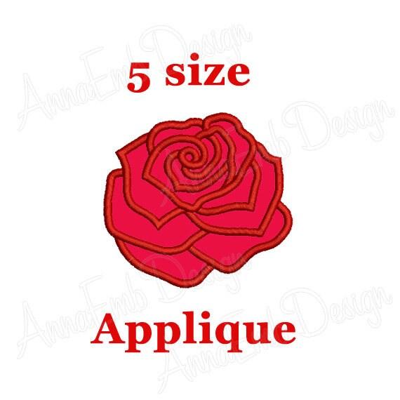 Rose applique design flower floral