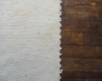 COTTON canvas (250 or 290 g), unbleached / natural / off white / eco _ fabric by yard