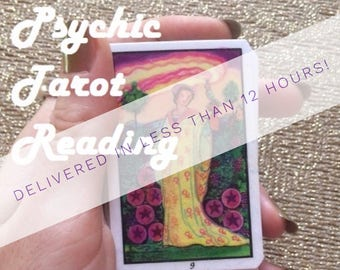 Same Day 1 Card Psychic Tarot Reading - 12 Hour Delivery - Experienced Reader - Detailed Interpretations - Predictions - GREAT VALUE!