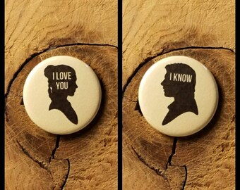"I Love You / I Know (1-1/4"" Pinback Buttons)"