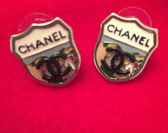 SALE Chanel Shield CC earrings