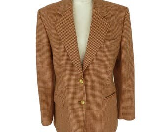 Nazareno Gabrielli jacket wool cachemire red tweed 44 woman made italy vintage