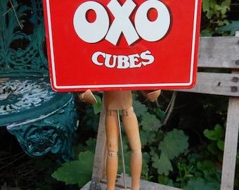 Vintage First Edition Oxo Cube Tin, The Original Red Cube, Oxo Tin 1970s, Vintage Oxo Metal Tin, Retro Oxo Tin, Stock Cube Storage