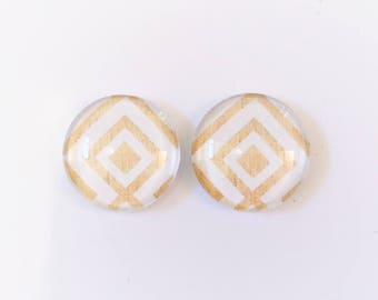 The 'Sadie' Glass Earring Studs