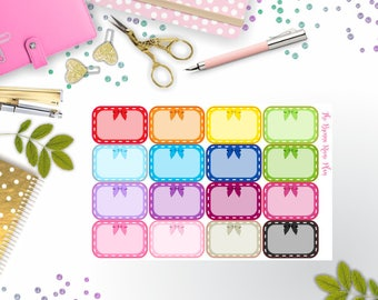 Cute Bow Half Boxes | Planner Stickers