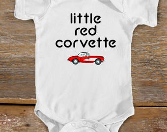 Little Red Corvette Bodysuit | Prince Baby | Cute Baby Shower Gift | Pop Baby | Rock n Roll Baby | Classic Car | Chevy