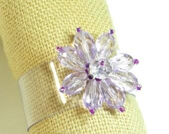"""Bracelet Designer """"Fleura"""", transparent PVC, unique(only) model, realized by hand"""