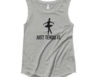Just Tendu It Ladies' Cap Sleeve T-Shirt