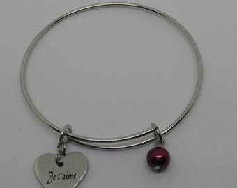 Adjustable bracelet personalized stainless steel