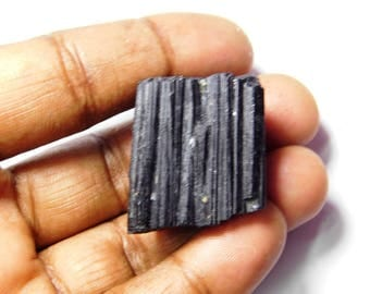 Rare- Natural Black Tourmaline gemstone. Tourmaline rough, Tourmaline Loose Gemstone, Black Tourmaline loose stone. 130 Cts. #3795N