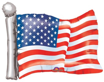 "American Flag 27"", American Flag 14"", 4th of July Balloon, patriotic Balloon"