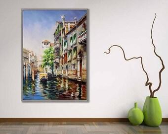 "Venice Italy Art Painting 20x28""/50x70cm Italian Art Work"