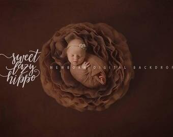 Newborn digital background. Chocolate Rose. Instant download digital backdrop. Hires JPG file