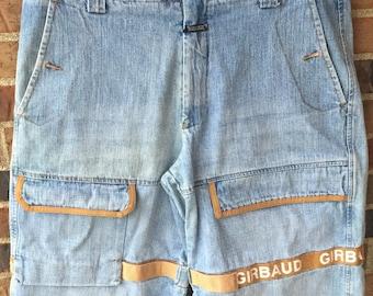 Marithe Francois Girbaud le Jean de Marithe jean shorts men's 36 white shuttle tape hip hop streetwear jean shorts urban 1990s 90s fashion