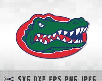 Florida Gators SVG PNG DXF Logo Layered Vector Cut File Silhouette Studio Cameo Cricut Design Template Stencil Vinyl Decal Transfer Iron on
