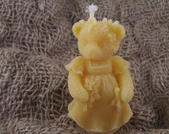 Candle Bear Bride from beeswax