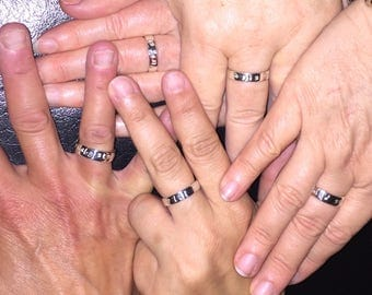 """Sterling Silver """"Sisters"""" Ring, 6mm wide, Every Day Ring, Big Sis, Mid Sis, Lil Sis"""