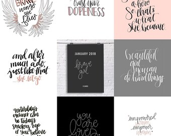 Brave Girl QuoteCard Pack - 9 flat cards