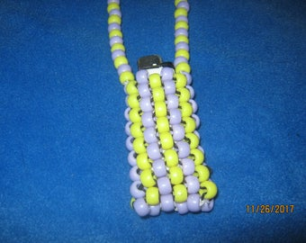 Lighter Necklace (Purple and Yellow)