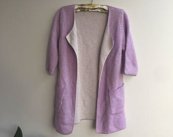Retro Knitted Cardigan with Pockets