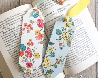 Personalised wooden bookmark, vintage roses design, floral design, decoupage bookmark, teachers gift, shabby chic gift, birthday gift