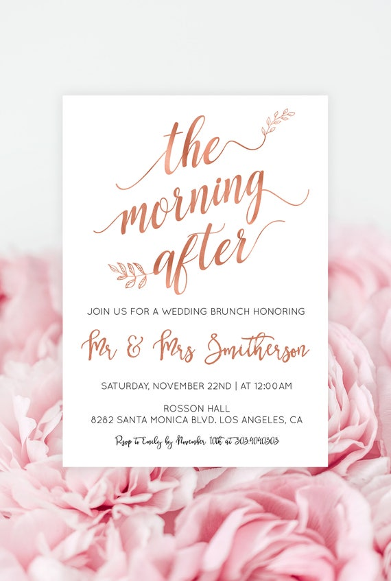 Post Wedding Brunch Invitation