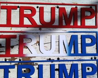 Trump metal art decor