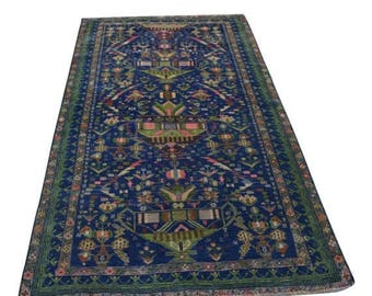 35% OFF Final sale Vintage Persian Baluch rug / hand knotted rug 100 Percent wool