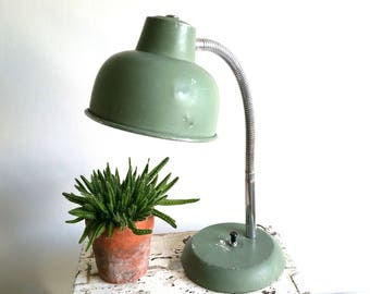Green Industrial desk lamp