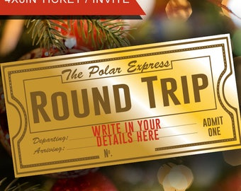 Christmas, Polar Express, Polar Express Ticket, Classroom party, Christmas ticket, Christmas train, train ticket, holidays, printable