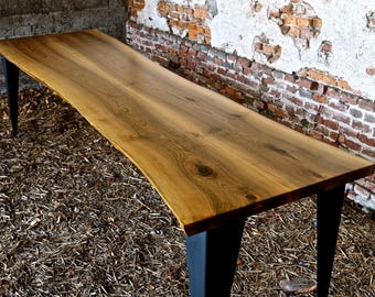 Walnut wood table