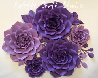 Paper flowers/ paper flower backdrop/wedding decoration/ home decor/ nursery decoration/ wedding flowers/ bridal shower/ baby shower